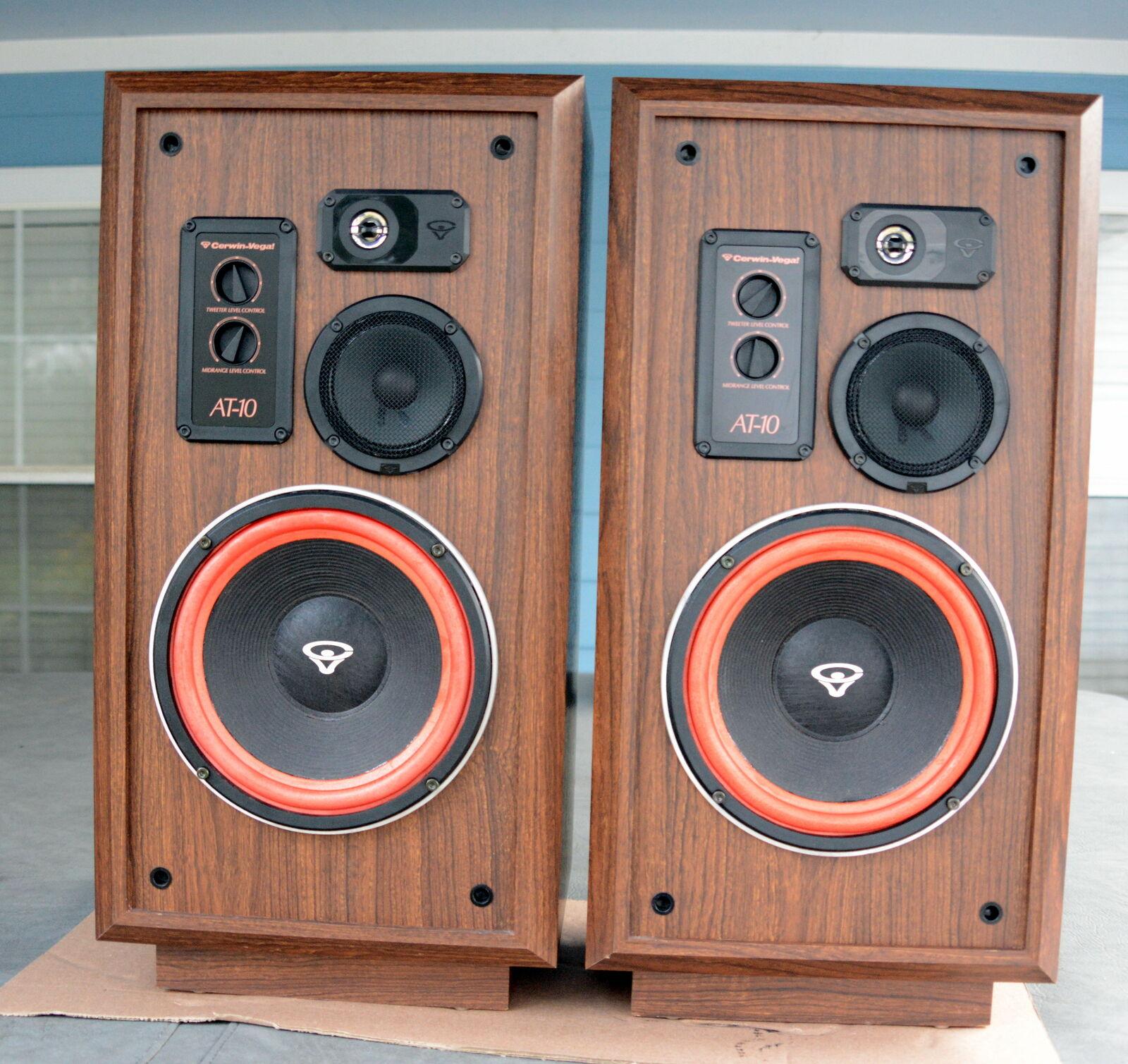 Cerwin Vega AT-10 speakers. Floor standing 3 way models