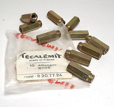 10x Tecalemit Allonges 8/125, Schraub-Verlängerung, 9.20.77.24, NOS