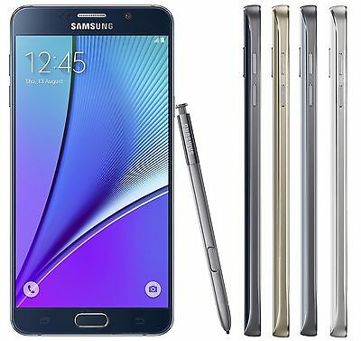 Samsung Galaxy Note 5 32GB 64GB Unlocked AT&T Tmobile MetroPcs Smartphone SB