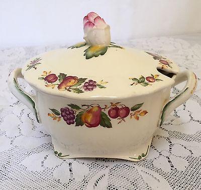 Vintage Grindley Marlborough Royal Petal Small Covered Serving Bowl Fruit