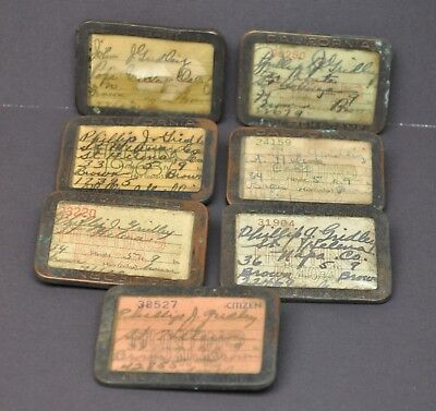 Vintage 1937-1942 California Hunting License Tags Lot St Helena Pope Valley CA