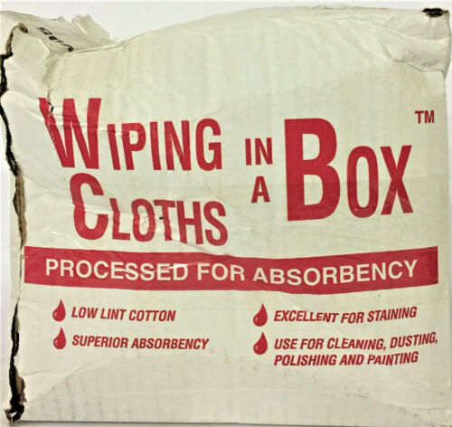 GEN-PAK CORP. Multipurpose Reusable Wiping Cloths In A Box, White,Cotton,5lb Box