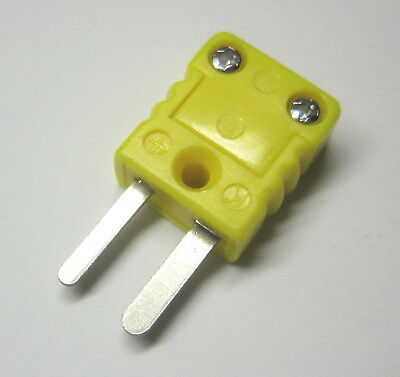 Miniature Mini K-type Connector Plug Male For Thermocouple Wire Sensor Probe