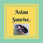 Asian Sunrise hand painted basins.