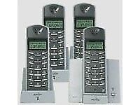 BINATONE E3250 QUAD CORDLESS TELEPHONE ( 4 FOUR HAND SET TELEPHONE )