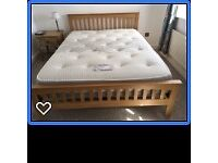 Nearly new king size bed for sale due to relocation