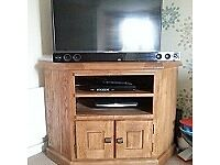 TV Unit Solid Oak