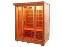 Sauna 3 person Canadian Hemlock Wood panelled designed by sahara valley