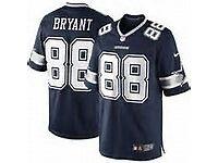Blue Dallas Cowboys Team Shirt Number 88 Bryant
