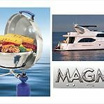 NEW MAGMA MARINE KETTLE GAS GRILL W/ HINGED LID