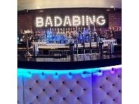 Fun , Friendly , Outgoing Waiting/Bar staff needed at Badabing ...