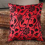 New- Satiny Floral Decorative Throw Pillow Covers-18 x 18 inch. Sarnia Sarnia Area image 2