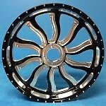 Black Contrast 240 Inferno Wheels, Hubs, And Sprocket For 2008-2016 Hayabusa