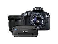 1 xCanon EOS 1300D DSLR Camera with 18-55mm & 10-18mm Lens, 1 x CRYSTAL DSLR CAMERA CASE, 1 x CS100
