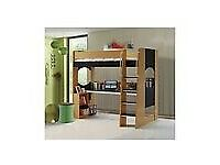 Higher sleeper/bunk bed with desk, including mattress £100