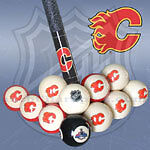NHL Calgary Flames Pool Balls at JJ Sports
