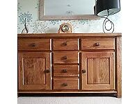 Solid Oak Large Sideboard