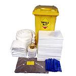 spill kit in wheelie bin