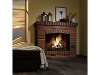 Brick slips Rustic Antique, red/black/white flamed for Open Fire place