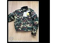 Brand new Spada motorbike jacket and trousers, camouflage, size large