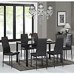 Black 7PC Dining Set Sale-WO 7733 (BD-2600)