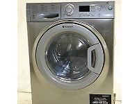 Hotpoint Aquarius Washer Dryer, 8Kg Wash Load, A Energy Rating, Stainless Steel