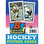 1991-92 BOWMAN HOCKEY ... UNOPENED BOX ... 36 packs .. 504 cards