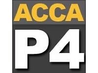 Latest ACCA LSBF P4 Latest Videos & Revision Materials valid for Sept 2017