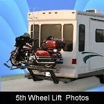 Motorcycle lift for RV Hydraulic complete and solid