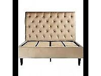 Velvet Buttoned Double Bed Brand New Free Local Delivery