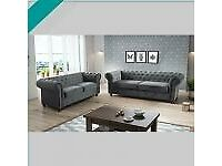 💛💥BRAND NEW LUXURIOUS CHESTERFIELD 3+2 SOFA🚚 FREE DELIVERY, 💥CASH ON DELIVERY🖤