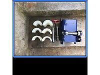 Pipe Pushing Machine: Single-pin mounted digger attachment for insertion of new PE pipe and cable.