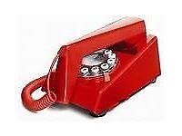 Two red 70s retro phones
