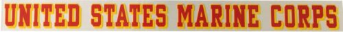"""USMC Marines Corps Long Window Sticker Decal Outside Mount 17"""" X 1.75"""" LICENSED"""