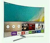 "Samsung 49"" Curved 4K UHD HDR smart wifi new model ue49ku6670 Tv comes with warranty ."