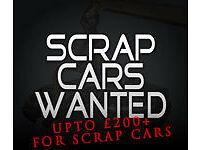 *scrap* Cars wanted. Guaranteed to beat any quote. Mot failure. Non runner. Damaged. Unwanted