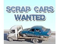 SCRAP CARS WANTED CASH FOR MY CAR VAN OR MOTORBIKE SELL MY CAR BEST PRICES PAID