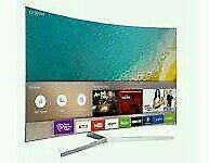 "Samsung 49"" Curved 4K UHD HDR smart wifi new model ue49ku6670 New tv in box comes with warranty ."