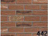 "Brick tile ""Old West Mill"" red/black flamed colour ref 442"