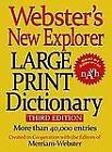 Webster Large Print Dictionary