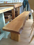 solid oak rustic bench for home or garden