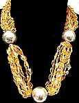 Nine-Stranded Sterling Silver Carnelian Gemstone Necklace