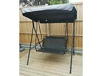 Two Seater Swing Seat excellent condition new cushions easy dismantle will fit hatchback