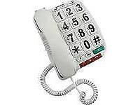 Opticom Big Button Corded Telephone B300 - Single.