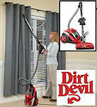 NEW DIRT DEVIL CYCLONIC CANISTER VACUUM RED