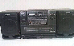 Vintage Retro Sony Boombox CD\tape\am\fm Mint all the rage