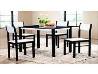 TARA DINING TABLE AND 4 CHAIRS -QUALITY ASSURANCE -SAME DAY