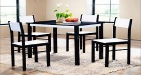 **100% GUARANTEED PRICE!**BRAND NEW-Luxury Dinning Set With 4 Solid Rubber Wood Chairs-Limited Stock