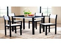 BRAND NEW TARA DINING TABLE WITH 4 CHAIRS -QUALITY ASSURANCE ,SAME DAY