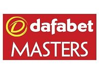 2x Tickets Snooker Masters FINAL 7PM (Sold out event)